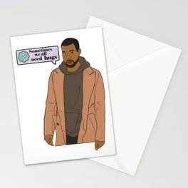A Man Endowed with Dragon Energy Tweeting his Deepest Feelings Stationery Cards