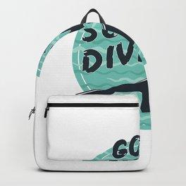 Go Scuba Diving - Cute Underwater Scuba Diver Gift Backpack