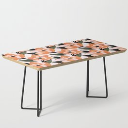 Bold orange poppy on a soft pink base Coffee Table