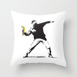 Banana Underground Throw Pillow