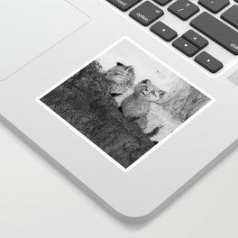 Fox Kits Sketch Sticker