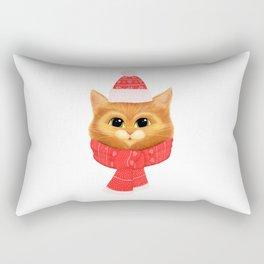 Winter kitty Rectangular Pillow