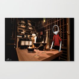 Corky in the cellar Canvas Print