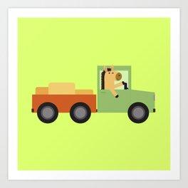 Horse on Truck Art Print