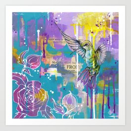 A Hummingbirds Folly Art Print