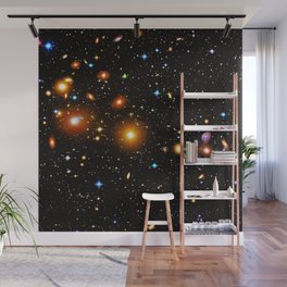 Galaxies, nebulas, planets, and stars in the universe Wall Mural