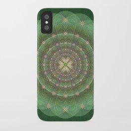Blessing Mandala green - מנדלה ברכה ירוק iPhone Case