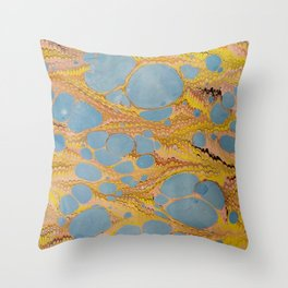Fantasy Water Marbling Throw Pillow