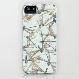 watercolor dragonflies iPhone Case