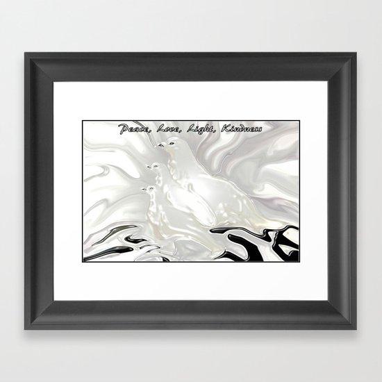 DOVES OF PEACE Framed Art Print