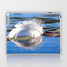 Swan Feather on Lake Laptop & iPad Skin