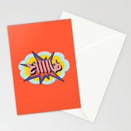 TAAKH Arabic Pop Art Comic Style Stationery Cards