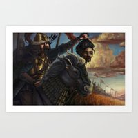 Genghis Khan at Harvest Battle Art Print
