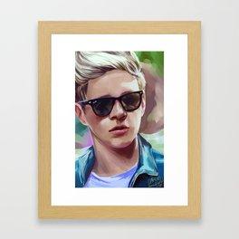 sunglasses aw yeah Framed Art Print