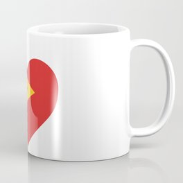 East Timor  love flag heart designs  Coffee Mug