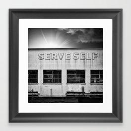 serve self Framed Art Print