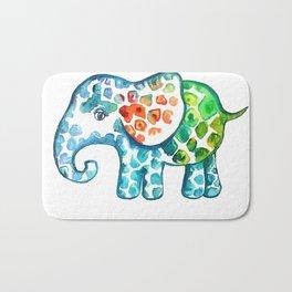 Rainbow Elephant Bath Mat