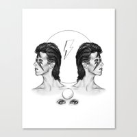 bowie Canvas Prints featuring Bowie  by TOADSTONE