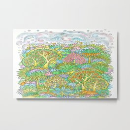 Middle of the forest Metal Print