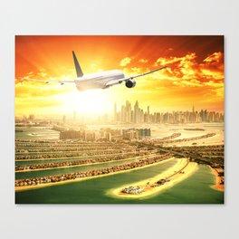 traveling in dubai Canvas Print