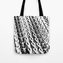 Chains. Black And White. Tote Bag