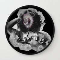 geode Wall Clocks featuring Geode Face by hunnydoll
