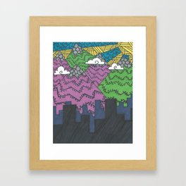 City of the Mountains Framed Art Print