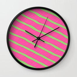 Neon Stripes 1A Wall Clock