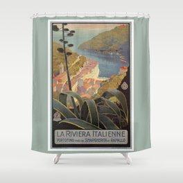 Portofino Italian Riviera Travel Shower Curtain