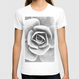 Succulent Photo | Black and White T-shirt
