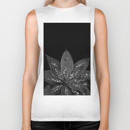 Gray Black Agave with Black Silver Glitter #2 #shiny #tropical #decor #art #society6 Biker Tank