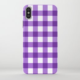 Purple Buffalo Check - more colors iPhone Case