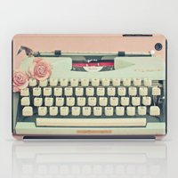 letter iPad Cases featuring Love Letter by Cassia Beck
