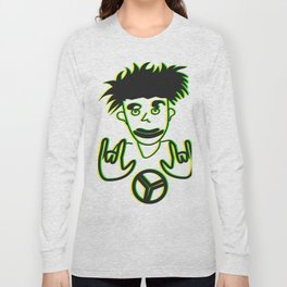 Rasta Peace Drawing Long Sleeve T-shirt