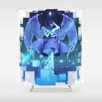 steven universe Shower Curtains featuring steven universe lapis lazuli by Shade-Umbra