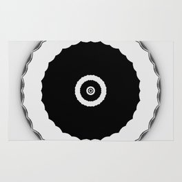Simple Circles Black an White Rug