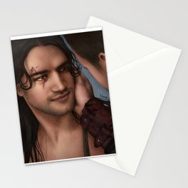 Nagron First Kiss (Nasir, Spartacus) Color Version Stationery Cards