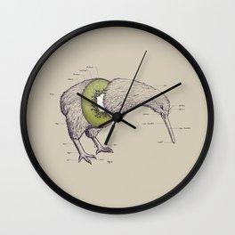 Kiwi Anatomy Wall Clock