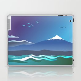 Mont Taranaki From The Sea Laptop & iPad Skin