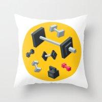 sport Throw Pillows featuring Sport equipment by Irmirx