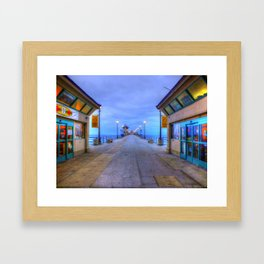 Before Dawn  * Huntington Beach Pier Framed Art Print