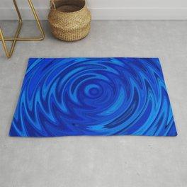 Water Moon Cobalt Swirl Rug