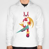 megaman Hoodies featuring Megaman Zero by JHTY