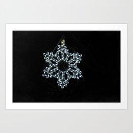 Christmas Snowflake in Ice Blue Art Print