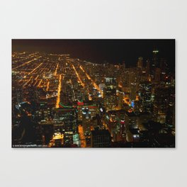 Looking Down on Downtown #1 (Chicago Architecture Collection) Canvas Print