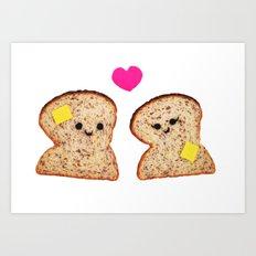 Toasty Love Art Print