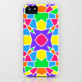 Rainbow Mosaic Symmetrical Kaleidoscope  iPhone Case