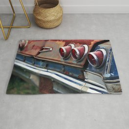Red Tail Lights Rug