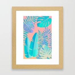 Tropics ( monstera and banana leaf pattern ) Framed Art Print