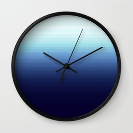 Nautical Blue Ombre Wall Clock